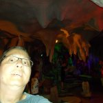 """Inside the """"colorful cave"""" at China Stone Museum (at the bottom area of the Wall)"""