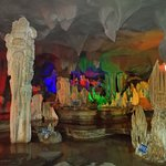 The cave with colorful lights (on the grounds of China Stone Museum at the bottom area of the Wa