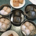 Shrimp dumpling and chicken with sticky rice