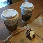 lattes and cranberry bliss bar