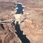 Hoover Dam view by air view