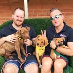 Andy, Jay and the adorable adoptions puppies.