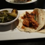 Korean Fried Chicken Tacos and Brussels Sprouts