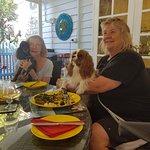 Napoleon and Sandra with Jenny and Jamie at breakfast