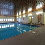Warm pool, hot tub and sauna. Very pleased!