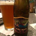 Local beer, nice.
