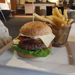 Wagui Burger with side of chips