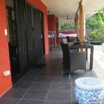 The villa's private verandah
