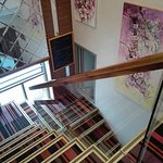 One floor nice walk after elevator to top floor restaurant