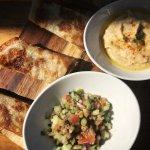Hummus and Yemeni flat bread