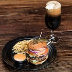 Burger and Beer float