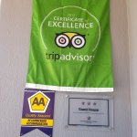 Flag for Certificate of Excellence received from Tripadvisor