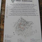 Croatian War for Independence Bomb map at entrance to Stradun (Old Town, Dubrovnik, Croatia)
