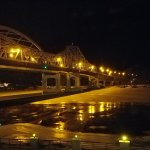 From Rm213. View of bridge at night.