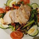 Dinner of chicken salad