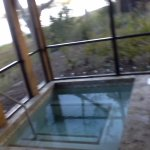 This is the private hot tub in the lake front porch (back)
