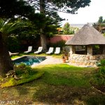 Garden with a small pool at House of Westcliff, Hermanus, S.A.