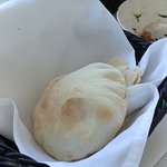 Fresh Pita still hot and puffed up only on Sunday