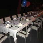 Set up for birthday dinner
