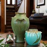 Canopy Vase, Heritage Garden Vase & Trillium Tile