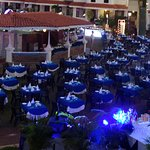 Tables laid out for New Year