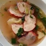 Soupe de raviolis au porc