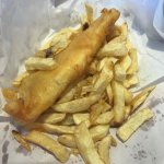 Battered cod and cold chips. COLD chips.