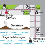 Map from the ferry to Hospedaje Soma