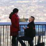 If you can't make it to Paris to propose, why not at the Mill Mountain Star with the Eiffel Towe