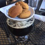 Ginger cookies served with English Strong Ale.