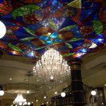 Massive Chandelier in the main lobby of the RIU Palace Resort in Punta Cana, DR