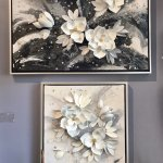 Magnolia sculptural wall art from Clint Eagar Design Gallery in Santa Rosa Beach, FL