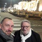Avec le Padré a Deauville devant le casino Barrirere