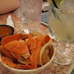 Chips, salsa, and a house margarita to start us off
