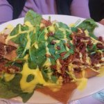 Spinach and bacon crepe.