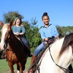 Trail riding in the Preserve.