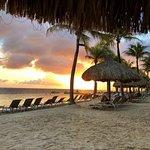 Sun set on beach