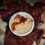 Hummus & Purple Potato Chips, Island Lava Java, Kailua Kona, HI