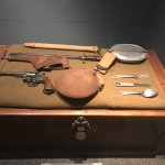 early mess kit and issued revolver