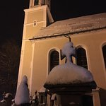 Local church in the new fallen snow at midnight - Oberammergau - 100 meters from Maximillian Hot