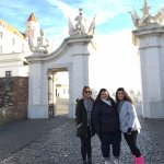 Main gate - three young ladies - actually enjoyed the visit