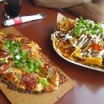 Pizza and nachos