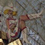 """Vegas Vickie"" neon cowgirl, facing east"