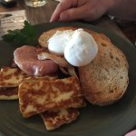 Bacon and Eggs with Haloumi