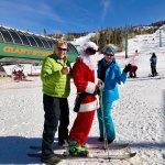 Santa showed up at BrianHead!