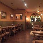 """Cute place- upscale, rustic """"pizzeria""""."""