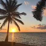 Sunrise view from the beachside cabanas