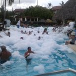 The pool foam party.