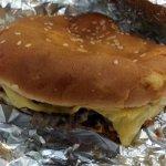 a plain little cheeseburger