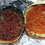 a little hamburger with catsup only
